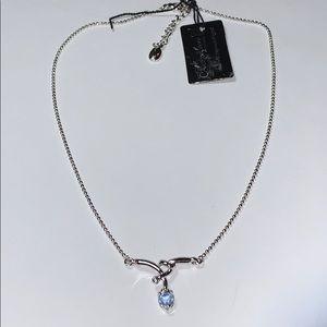 Jewelry - NWT Annaleece Swarovski Crystal Blue Necklace